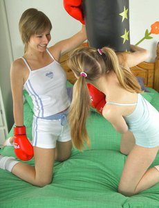 Sexy teens playing with twats-teen lesbo fuck|