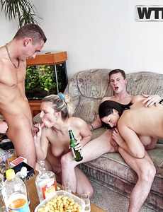 Getting naked of the birthday party - horny pussy porn