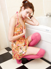Honey in pink stockings